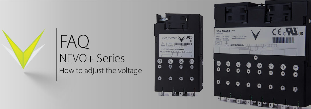 Vox Power   NEVO+ Series Output Voltage Adjust Demonstration