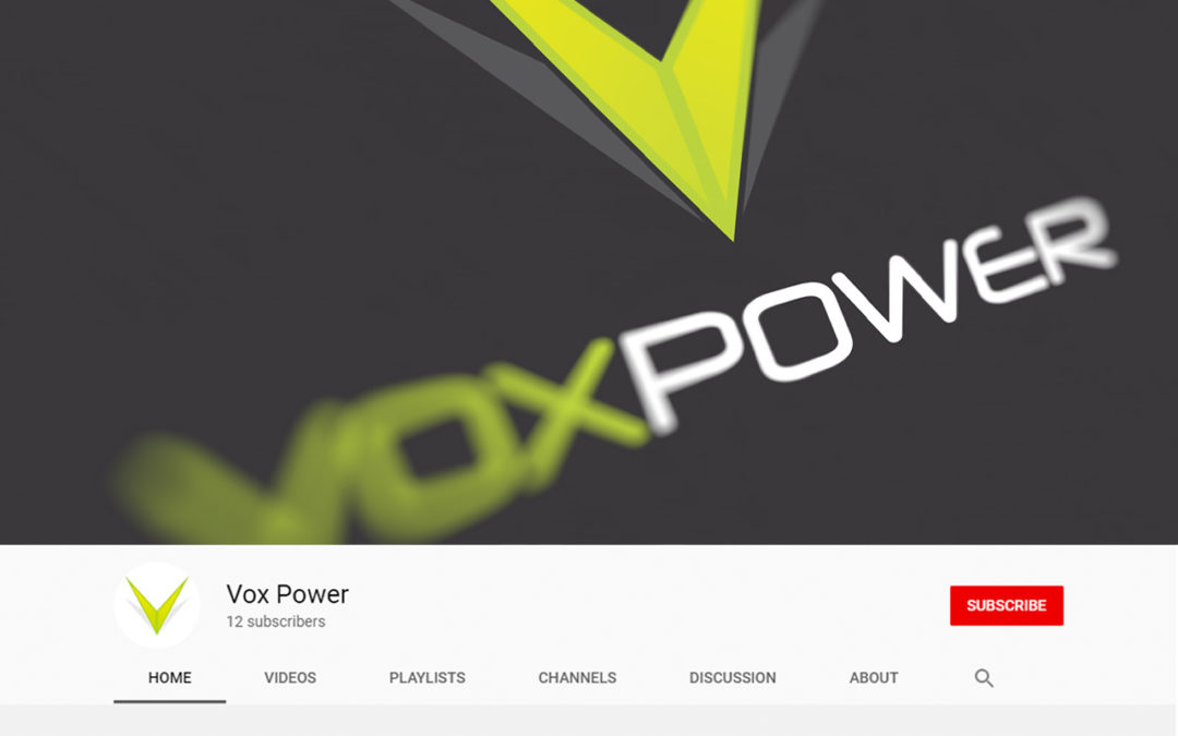 Vox Power Product Resource Videos Now Available on YouTube